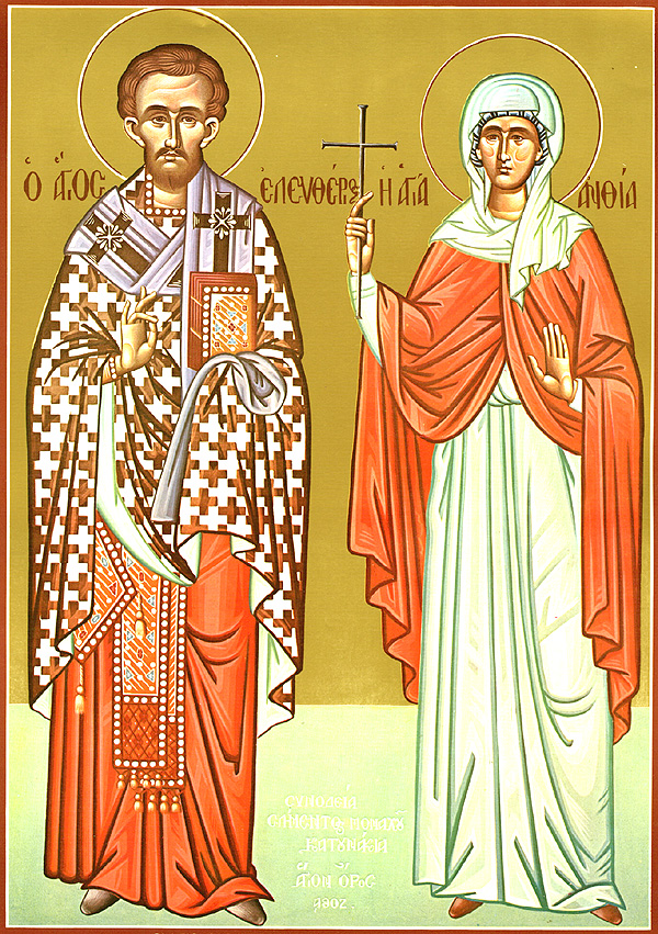 img ST. ELEUTHERIUS and ANTHIA his Mother, of Illyria