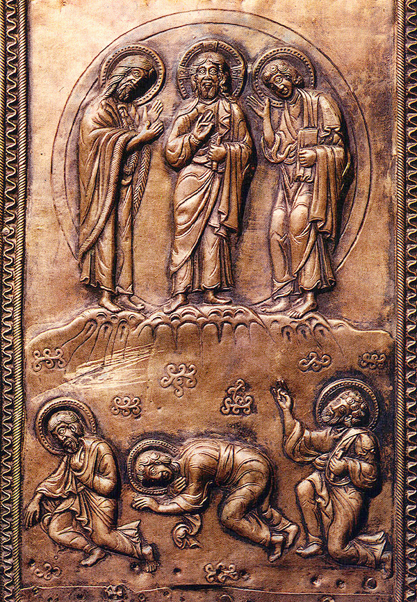 Transfiguration de Jésus dans images sacrée