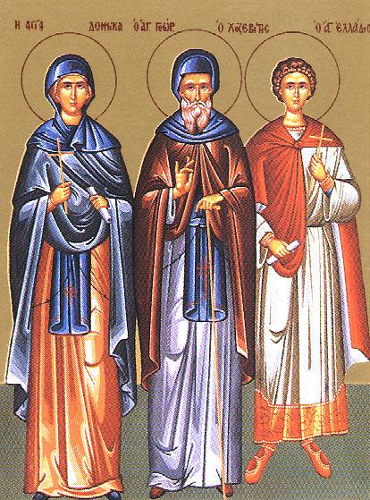 Икона избранные святые корнилий сотник емилиан домника