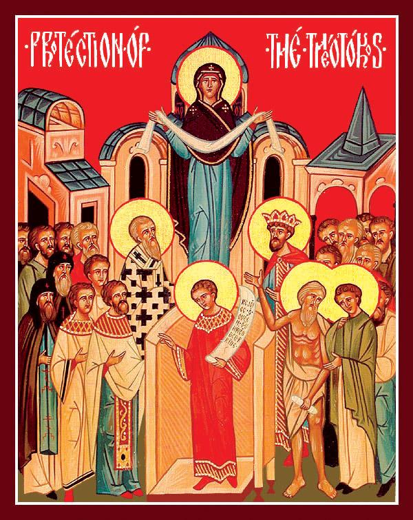 La protezione della Madre di Dio Theothokos dans immagini sacre 1001BProtection