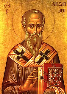 ST ALEXANDER, the Patriarch of Constantinople