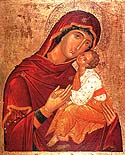 "Icon of the Mother of God on Mt. Athos, ""Glykophylousa"" (""Sweet Kissing"")"
