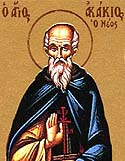 Venerable Acacius the Younger of Mt Athos