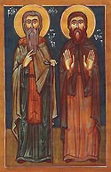Martyr Lucian with Suchias in Georgia