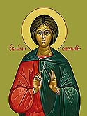 Martyr Anatolius the Soldier converted by witnessing the martyrdom of St George