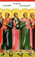 Martyr Longinus and others at Nicomedia