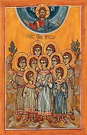Martyr Juansher of Kola with his eight brothers