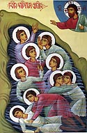 Martyr Pharsman of Kola with his eight brothers