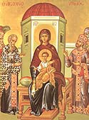 Icon of the Mother of God &amp;ldquo;of the Akathist&amp;rdquo; of the Zographou Monastery