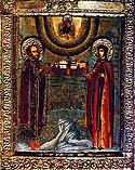Martyr Xenia of Rome, and her two female slaves