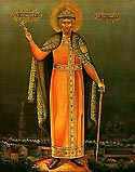 St Mstislav (George) the Prince of Novgorod