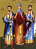 Martyr Athanasius the reader with his companions, Aristocleus the presbyter, and Demetrian the deacon of Cyprus
