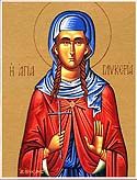 Virginmartyr Glyceria at Heraclea