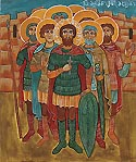 Martyred 133 Soldiers with the Great-martyr Michael (Gobron) of Georgia