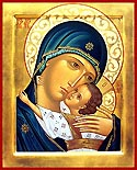 "Icon of the Mother of God ""Tenderness"" of the Pskov Caves"