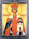 Martyr Ludmilla the grandmother of St Wenceslaus the Prince of the Czechs
