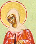 St Sebastiana the Martyr and Disciple of St Paul the Apostle at Heraclea