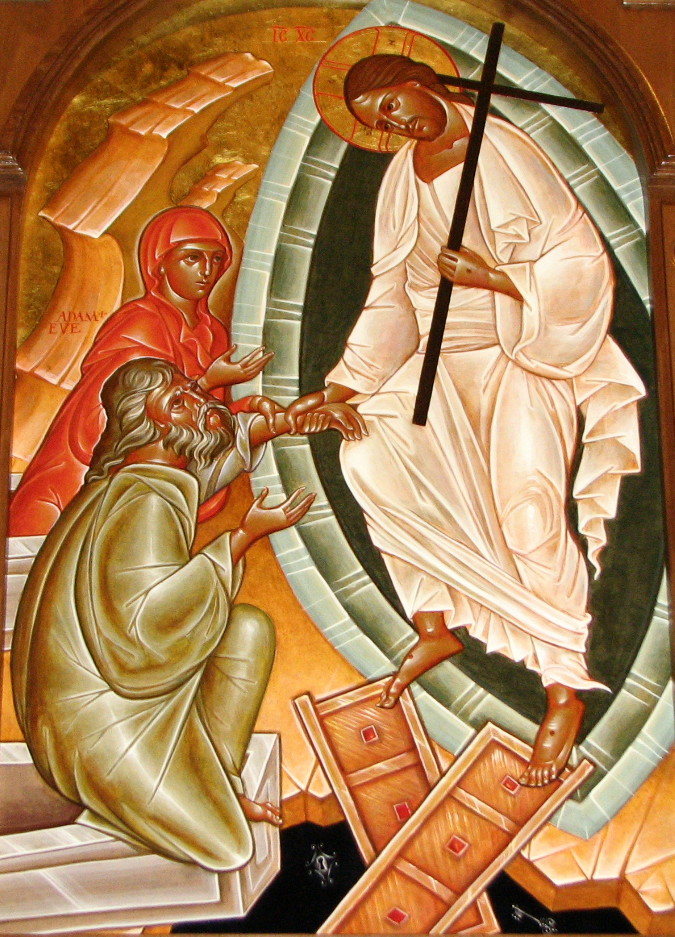 "The theological icon simply entitled the ""Anastasis"" or ""Resurrection,"" is also referred to as the ""Descent Into Hades.""  dans immagini sacre 2013-0510-resurrection"