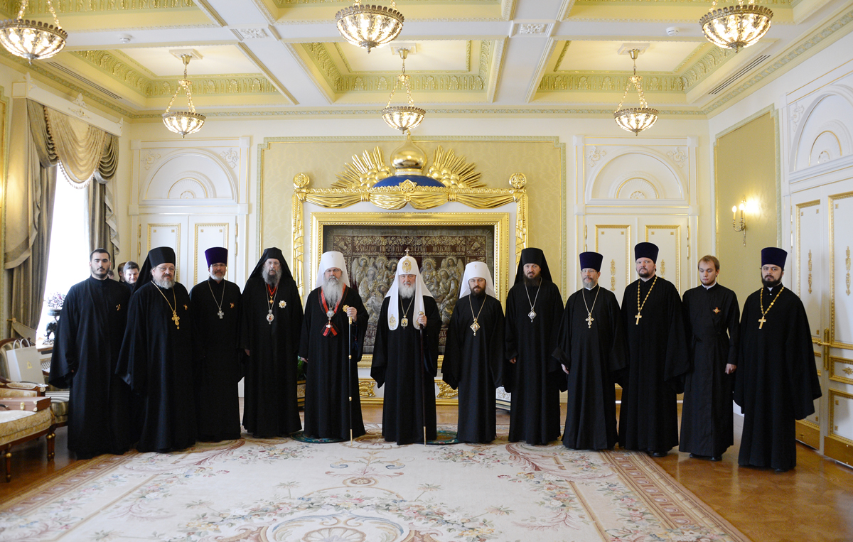 Patriarch Kirill with clergy