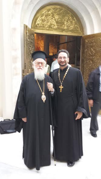 Abp Anastasios & Fr Eric Tosi