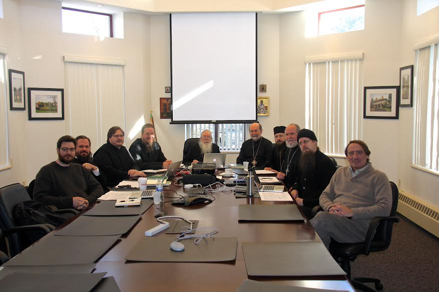 The joint Editorial Committee of SVS Press and STM Press, established by the landmark publication agreement, meet on the campus of St. Vladimir's Seminary.