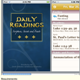 Daily readings for mobile devices