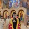 Metropolitan Tikhon concelebrates with Patriarch John X, Metropolitan Joseph