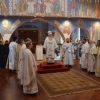 Metropolitan Tikhon serves at Dallas' St. Seraphim Cathedral