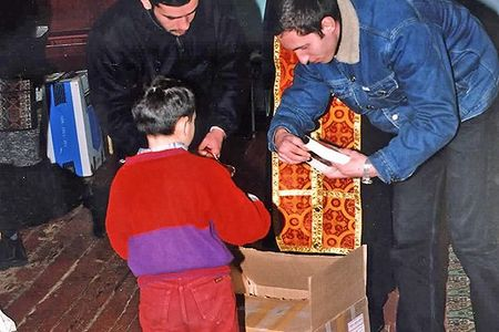 Children overseas receive thei