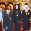 Metropolitan Tikhon welcomes Serbian Bishop Irinej to OCA Chancery