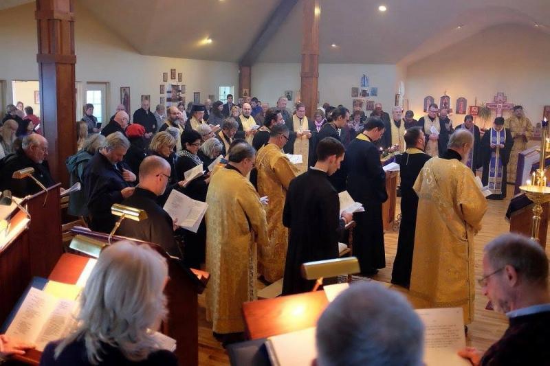 Southbury, CT: Clergy & faithful from OCA CT Deanery, Ukrainian Orthodox Church, & Greek Archdiocese gathered at Christ the Savior Church. Abp. Nikon presided & preached.