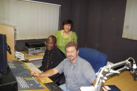 Radio host maria dzerfos.fr. a. andy