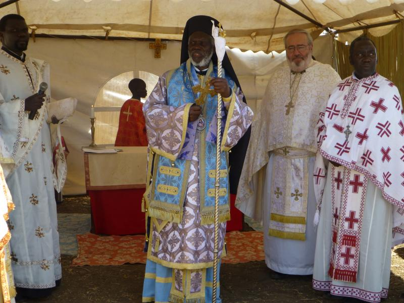 Metropolitan Jonah of Kampala and All Uganda with Father Joseph.
