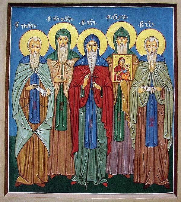 Fem munker, Gabriel med ikonet