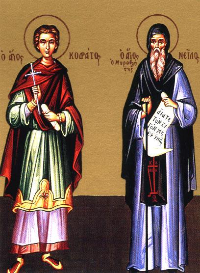 Venerable Nilus the Myrrhgusher of Lavra of Mount Athos