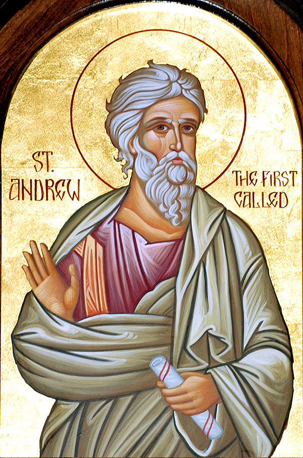 Saint Andrew, the first called dans immagini sacre 1130andrew10