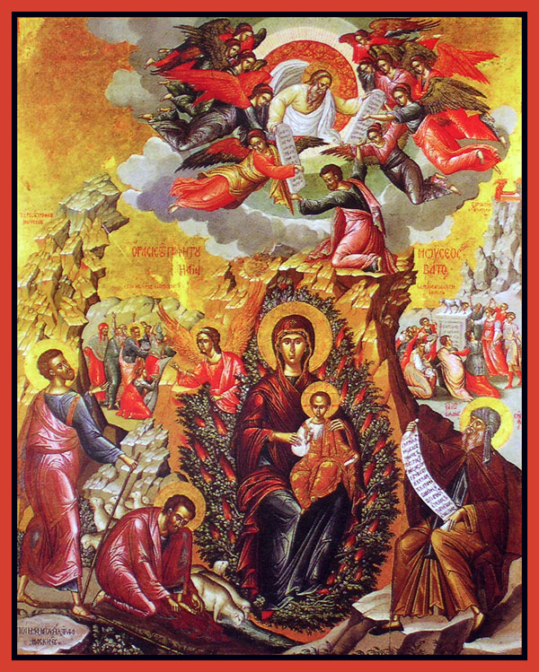 Icon Of The Mother Of God The Unburnt Bush Orthodox Church In
