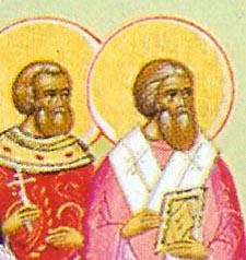 sveta Nikander in Hermes - škof in duhovnik, mučenca