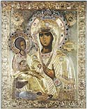 """Icon of the Mother of God """"of the Three Hands"""" on Mount Athos"""