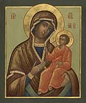 Weeping Tikhvin Icon of the Mother of God on Mt Athos