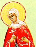Virginmartyr Pherbutha (Phermoutha) of Persia, with her sister, and servant