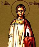Martyrs Rufinus the Deacon, Aquilina, and 20 soldiers with them at Sinope