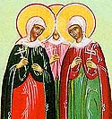 Virginmartyr Chionia in Thessalonica