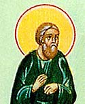 "Venerable Theodore Trichinas ""the Hair-Shirt Wearer"" and Hermit Near Constantinople"