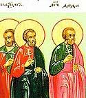 Martyrs Dada, Maximus, and Quinctilian, at Dorostolum