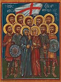 9 Kherkheulidze Brothers with their Mother and Sister and Nine Thousand Martyrs of Marabda