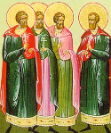 Martyrs Anicletus and Photius of Nicomedia, and those with them