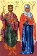 Martyrs Adrian and Natalia and 23 companions, of Nicomedia