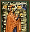 Righteous Anna the Prophetess and Daughter of Phanuel, who met the Lord at the Temple in Jerusalem