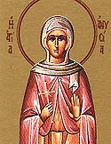 Virgin Martyr Anysia at Thessalonica